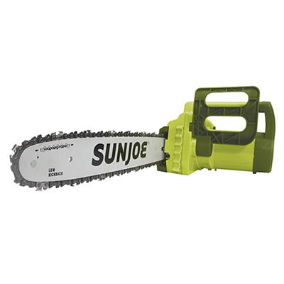 "Sun Joe 120V 16"" Electric Chain Saw - Green"