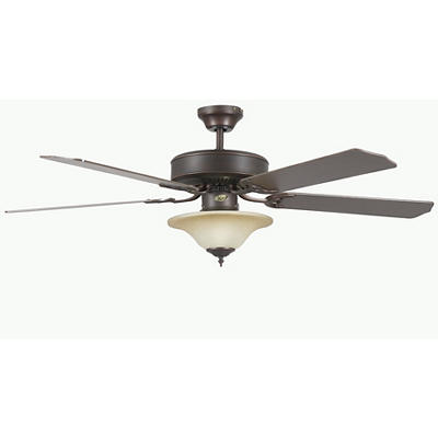 "Concord by Luminance 52"" Heritage Square Ceiling Fan with Bowl Light K"