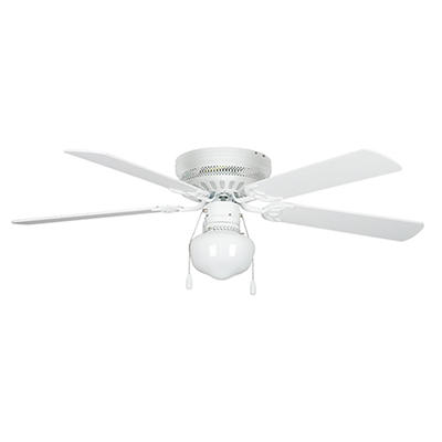 "Concord by Luminance 52"" Hugger Ceiling Fan with Schoolhouse Lighting"