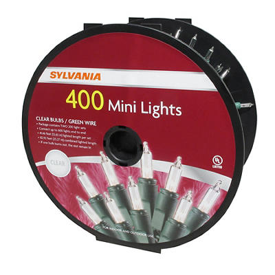 Sylvania Clear Mini Light Set, 400 ct.