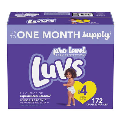 Luvs Ultra Leakguards Diapers, Size 4, 172 ct.