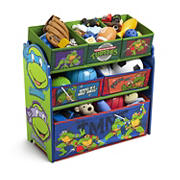 Delta Children Teenage Mutant Ninja Turtles 6-Bin Toy Organizer
