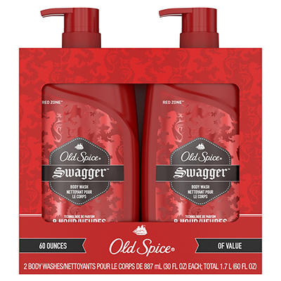 Old Spice Red Zone Swagger Body Wash for Men, 2 pk./30 oz.