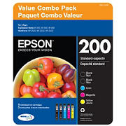 Epson T200 Series Multi-Color Combo Ink Pack, 5 ct.