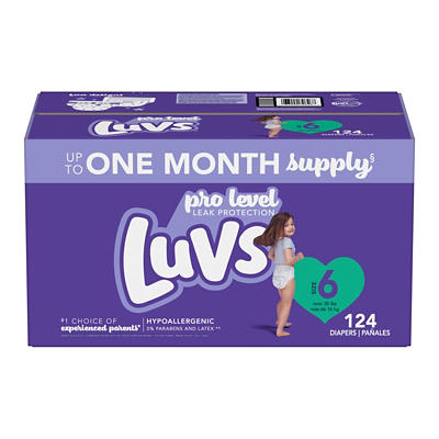 Luvs Ultra Leakguards Diapers, Size 6, 124 ct.