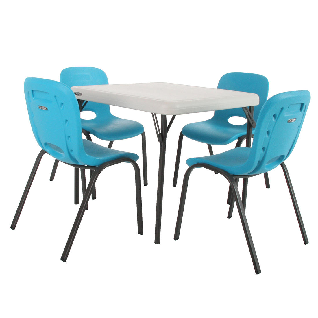 Excellent Lifetime Childrens Table And 4 Chairs Combination Blue Gmtry Best Dining Table And Chair Ideas Images Gmtryco