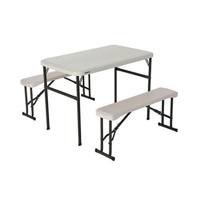 Lifetime Recreational Picnic Table with Benches - Almond