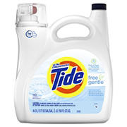 Tide Free & Gentle Liquid Laundry Detergent, 150 fl. oz.
