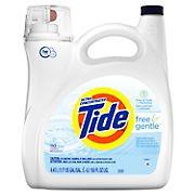 Tide Free & Gentle Liquid Laundry Detergent, 150 fl. oz.