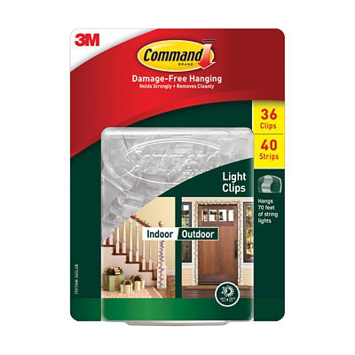 Command Indoor/Outdoor Light Clips, 36 ct.