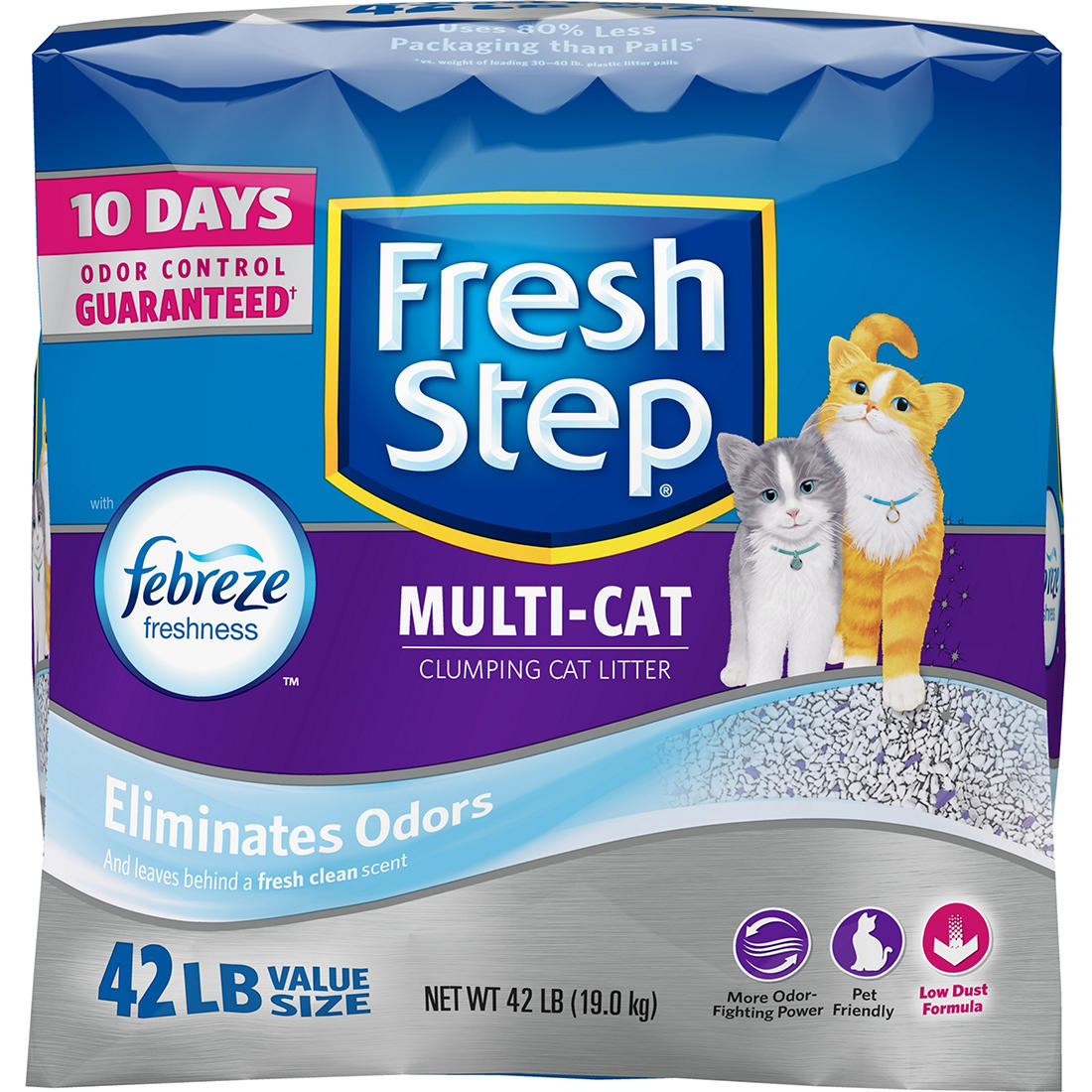 graphic relating to Fresh Step Coupon Printable referred to as Clean Move Multi-Cat Scented Muddle with Febreze, 42 pounds.