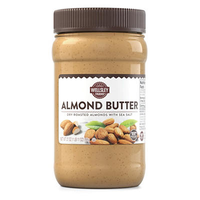 Wellsley Farms Almond Butter with Sea Salt, 27 oz.