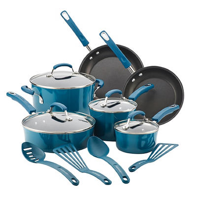 Rachael Ray 14-Pc. Cookware Set - Marine Blue