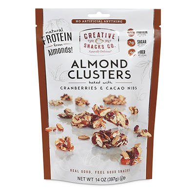 Creative Snacks Co. Almond Clusters with Cranberries & Cacao Nibs, 14