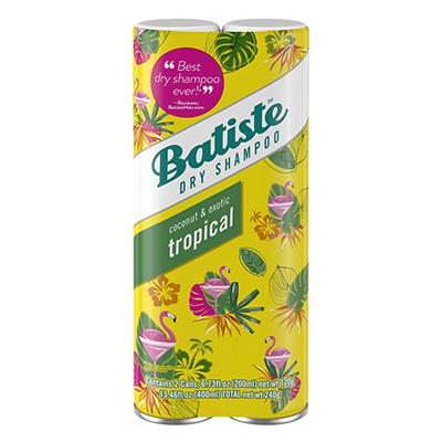Batiste Coconut and Exotic Tropical Dry Shampoo, 2 ct./6.73 fl. oz.