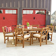 W. Trends 7-pc Outdoor Alder Acacia Wood Dining Set - Brown