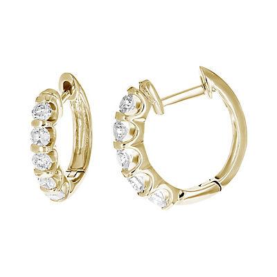 Amairah 1.00 ct. t.w. Diamond Hoop Earrings in 10k Yellow Gold