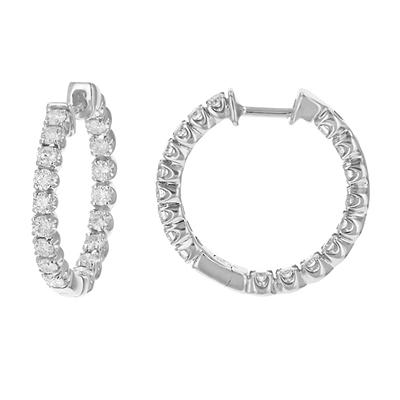 Amairah 2.00 ct. t.w. Diamond Hoop Earrings in 14k White Gold