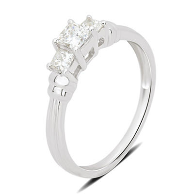 1.00 ct. t.w. 3-Stone Diamond Engagement Ring in 14k White Gold