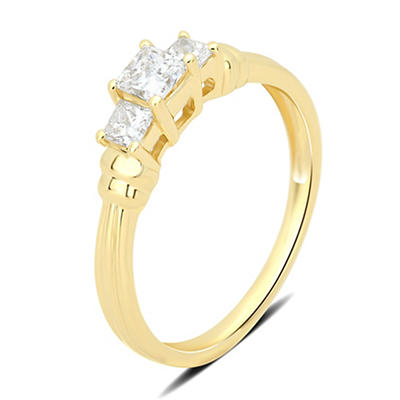 1.00 ct. t.w. 3-Stone Diamond Engagement Ring in 14k Yellow Gold