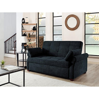 Relax-a-Lounger Hayden Convertible Sofa - Dark Gray