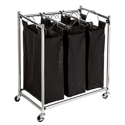 Honey-Can-Do Easy Load Triple Laundry Sorter