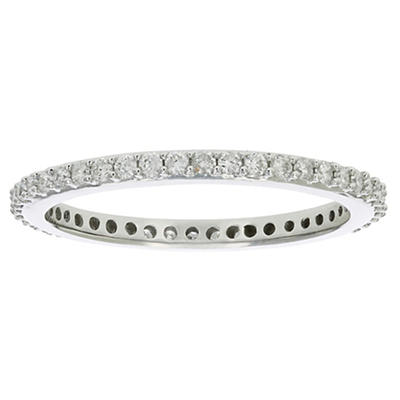 Amairah .50 ct. t.w. Diamond Eternity Ring in 14k White Gold, Size 5.5