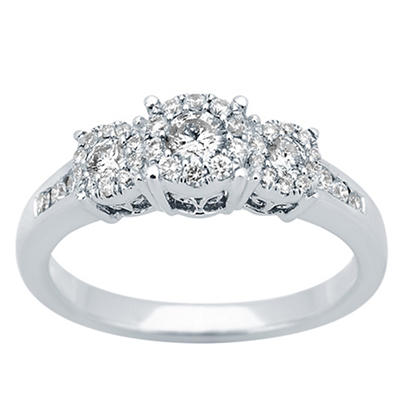 .50 ct. t.w. Diamond Engagement Ring in 14k White Gold, Size 6.5