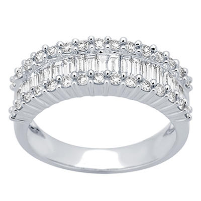 1.00 ct. t.w. Diamond Anniversary Band in 14k White Gold, Size 6
