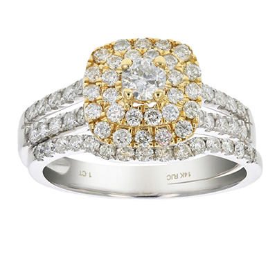 Amairah 1.00 ct. t.w. Diamond Wedding Bridal Ring in 14k Two-Tone Gold, Size 5