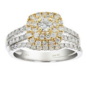 Amairah 1.00 ct. t.w. Diamond Wedding Bridal Ring in 14k Two-Tone Gold, Size 5.5