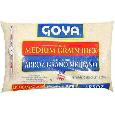 Goya Medium Grain Rice, 20 lb.