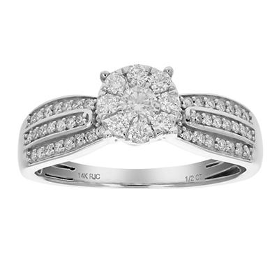 Amairah .50 ct. t.w. Diamond Engagement Ring in 14k White Gold, Size 7