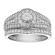 Amairah 1.00 ct. t.w. Diamond Channel Prong Engagement Ring Set in 14k White Gold, Size 6