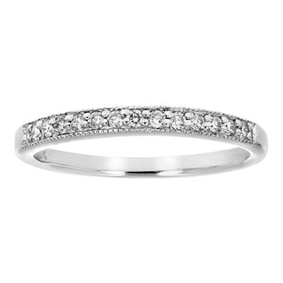 Amairah .16 ct. t.w. Petite Diamond Wedding Band in 10k White Gold, Si