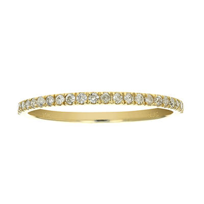 Amairah .16 ct. t.w. Diamond Pave Wedding Band in 10k Yellow Gold, Siz