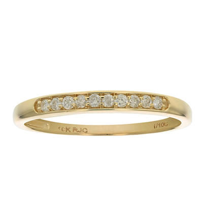 Amairah .10 ct. t.w. Petite Diamond Wedding Band in 10k Yellow Gold, S