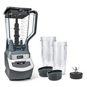 Ninja Professional 1,100W Blender with 2 BONUS Nutri Ninja 16-Oz. Cups and Lids