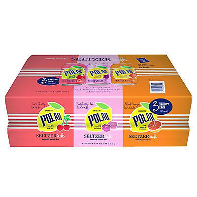 Polar Seltzer Ade Variety Pack, 24 pk./12 oz.