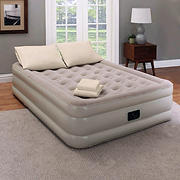 Guest Essentials Queen Inflatable Bed Set with Air Mattress, Pump, Pillows and Sheet Set