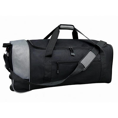 "Travelers Club 32"" Rolling Duffel - Black and Gray"