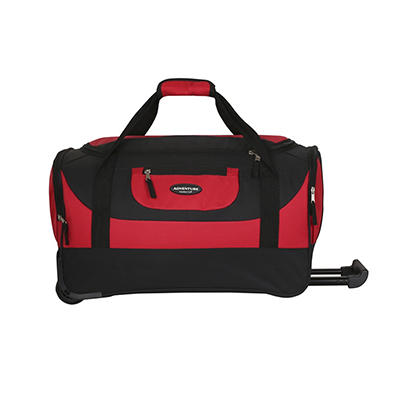 "Travelers Club 20"" Rolling Duffel - Red"