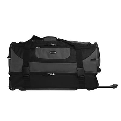 "Travelers Club 30"" 2-Compartment Rolling Duffel - Gray"