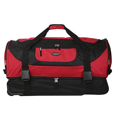 "Travelers Club 30"" 2-Compartment Rolling Duffel - Red"