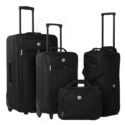 Travelers Club 4-Pc. Luggage Set - Black