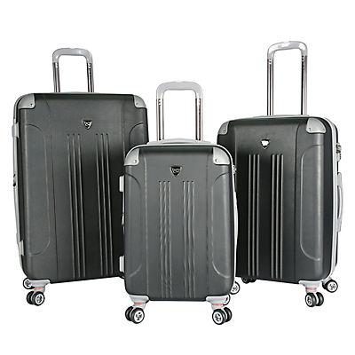 Travelers Club 3-Pc. TSA Lock Luggage Set - Black