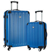 Travelers Club 2-Pc. Spinner Set with Cup Holder - Blue
