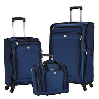 Travelers Club Monterey 3-Pc. Luggage Set - Blue