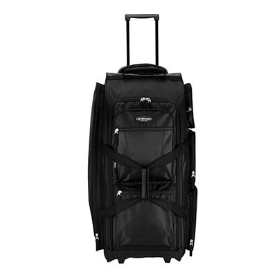 "Travelers Club Xpedition 30"" Upright Rolling Duffel - Black"