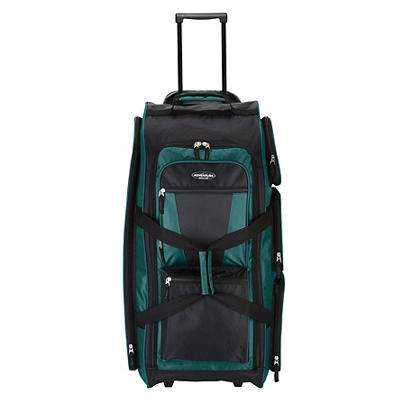 "Travelers Club Xpedition 30"" Upright Rolling Duffel - Teal"